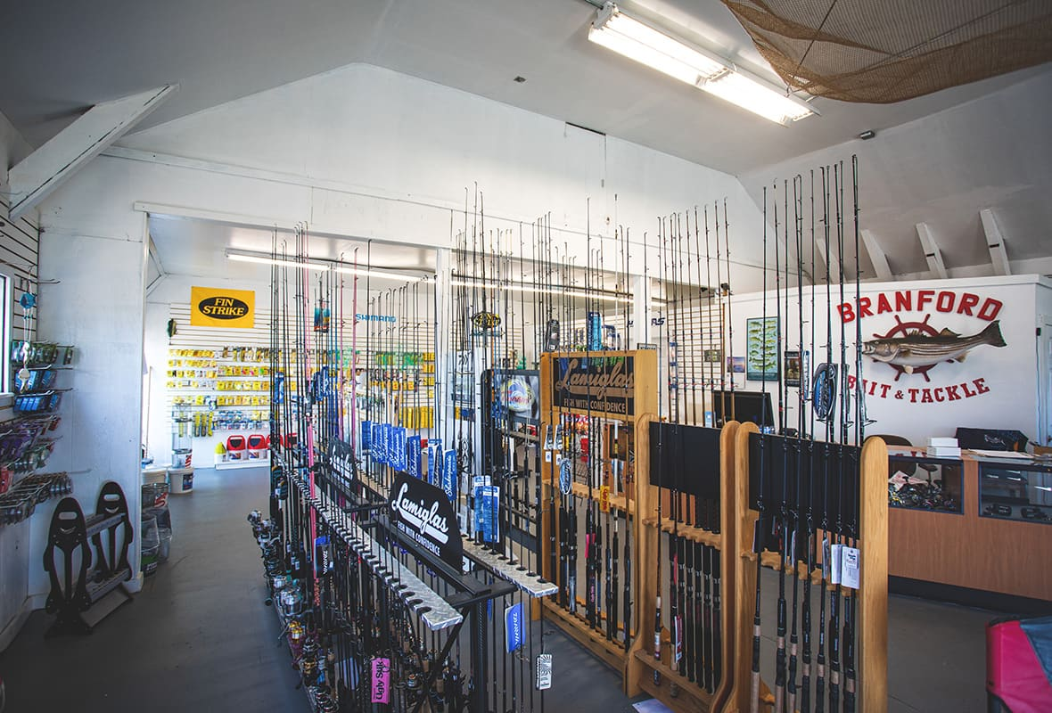 Inside of bait & tackle shop