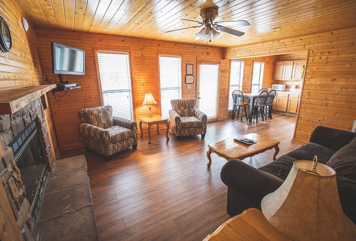 Inside of cabin at marina