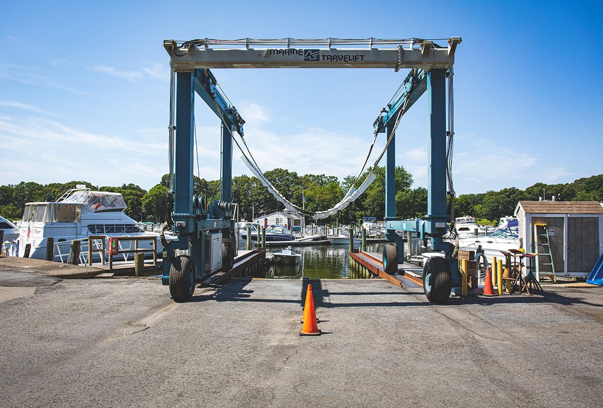 Boat lift by water