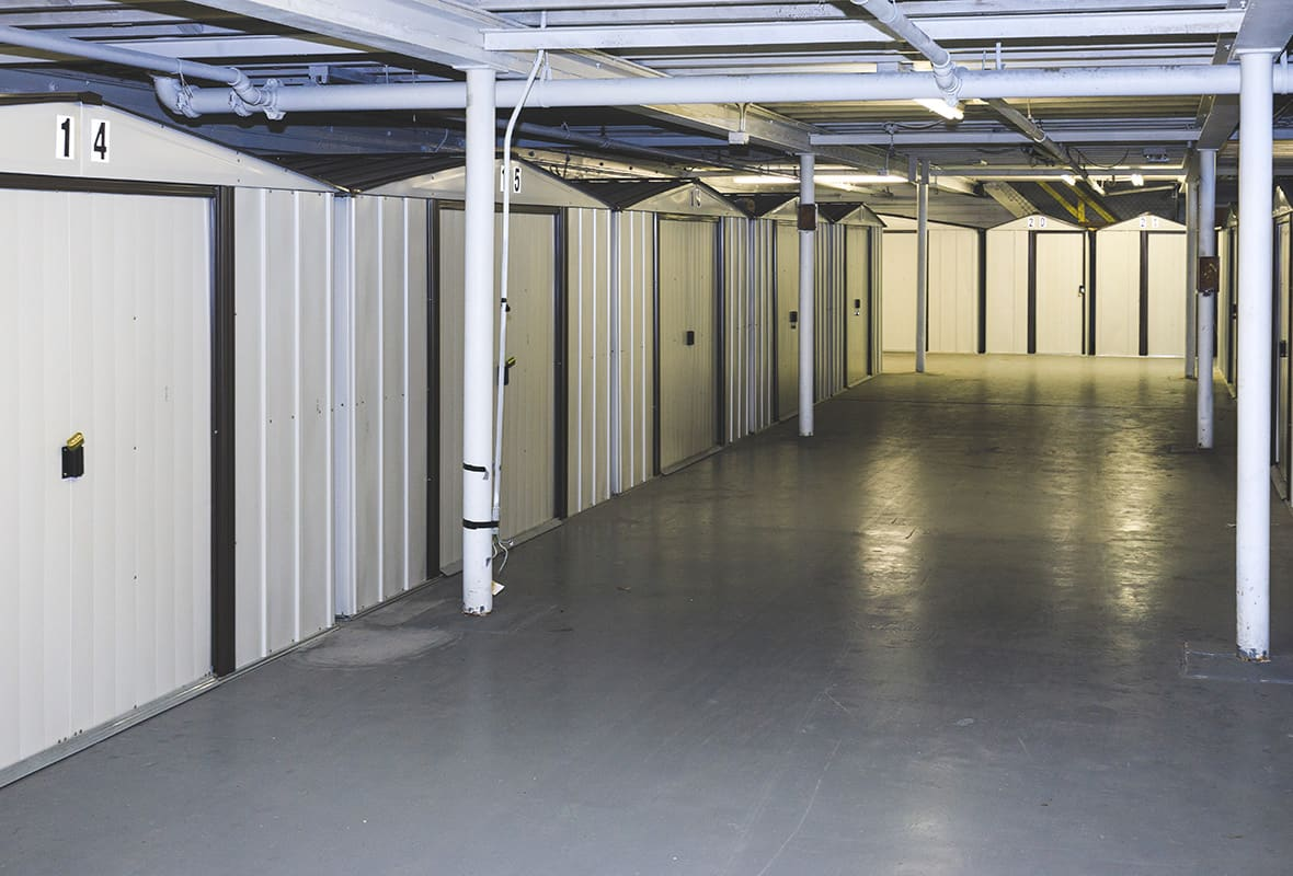 Inside of storage facility