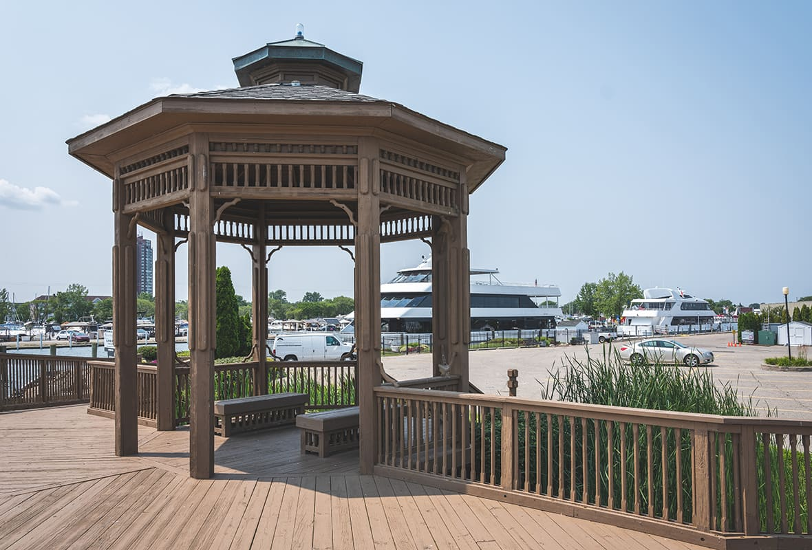 Gazebo at marina